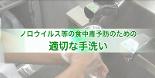 [動画]ノロウイルス等の食中毒予防のための適切な手洗い
